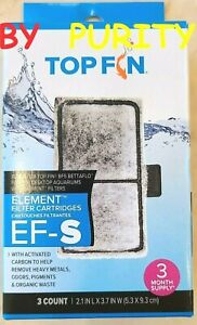 """TOP FIN EF-S ELEMENT Filter Cartridges ☆ Size 2.1"""" x 3.7"""" ☆3 Count/Box☆ BF5"""