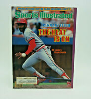 Sports Illustrated september 23, 1985 Ozzie Smith Of The ST Louis Cardinals 1985