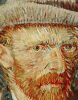 Self-portrait With Hat Vincent van Gogh Fine Art Print on Canvas Painting Repro