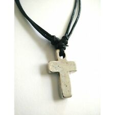 Handmade Christian Orthodox Pendant - Metal Cross Necklace Crucifix No22