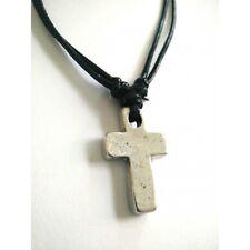 Handmade Christian Orthodox Pendant - Metal Cross Necklace Crucifix No22