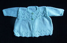 Baby clothes BOY GIRL 6-9m NEW! patterned hand-knit soft cardigan COMBINE POST!