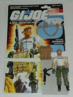 1987 GI Joe Outback v1 Survivalist Action Figure w/ File Card Back *Not Complete