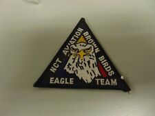 MILITARY PATCH SEW ON OLDER NCT AVIATION BROWN BIRDS EAGLE TEAM