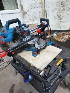 Double bevel sliding mitre saw used