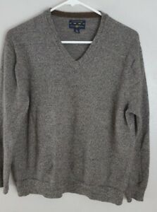 Club Room Boys Dark Sandy Brown V Neck Sweater size L