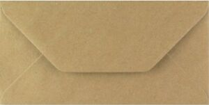 DL Kraft Envelopes 110mm x 220mm Brown Recycled Fleck Pack of 250 by Cranberry