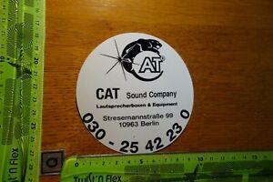 Alter Aufkleber HiFi TV Radio Akustik CAT Sound Company Berlin