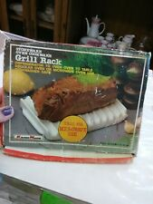 Stoneware Oven Cookware Kitchenmaster Grill Rack Made In Japan* Brand New
