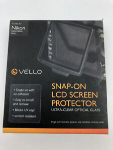 New Vello Snap-On Glass LCD Screen Protector for Nikon D800 D800E D810