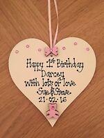 Baby's 1st First Birthday Personalised Plaque Gift Present Keepsake boy/girl