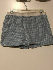Nautica Blue Sleepwear Shorts blue check size medium