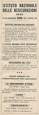 Z3156 Assicurazioni FIUME - Pubblicità d'epoca - 1932 Old advertising