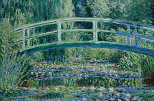 Claude Monet Water Lilies HOME OFFICE CANVAS WALL ART PRINT Unframed