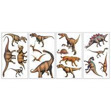 DINOSAURS wall stickers 16 realistic dinos decals scrapbook T-Rex Brontosaurus