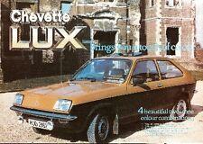 Vauxhall Chevette Lux 3-dr Limited Edition 1980 UK Market Sales Brochure