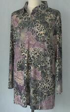 tolles Jersey - Shirt - Bluse  Gr. 22  in lila / grau