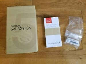 SAMSUNG GALAXY S5 BOX AND INSTRUCTIONS ONLY GREAT CONDITION