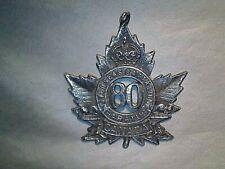 Canada Overseas Battalion - Cef 80 - Sweetheart Pendant - Wwi- Sterling