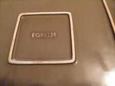 "Crate & Barrel Masa Slate Grey FORLIFE Square DinnerPlates~Set of 3 (10.5"")"