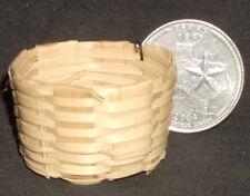 Dollhouse Miniature Woven Straw Basket Bushel 1:12 Scale Mexican Import #B107
