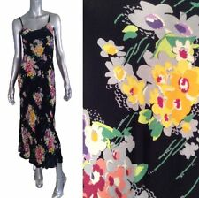 Vintage 90s BETSEY JOHNSON rayon Floral Print Dress XS-S Size P