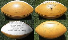 Autographed 1971 Nutmeg Bowl Football, Connecticut High School All-Stars Vintage