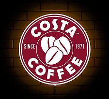 COSTA BADGE SIGN LED LIGHT BOX MAN CAVE COFFEE DRINK GAMES ROOM BOYS GIFT