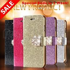 Bling Diamond Leather Case Iphone 6S and 6 Wallet Pouch Bag With Shiny Buckle