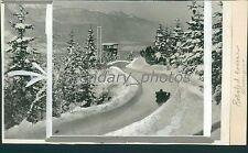 1936 Germany's Bobsled Course for Olympics Original News Service Photo