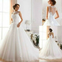 2018 New White/ivory Wedding dress Bridal Gown Stock Size : 6-8-10-12-14-16-18+