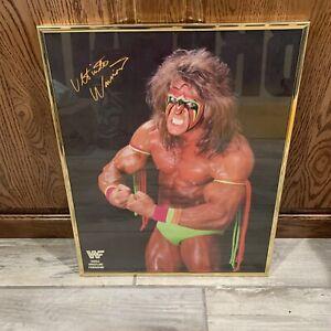 VINTAGE ULTIMATE WARRIOR WWF WWE POSTER 20x16 w/FRAME *MINT*