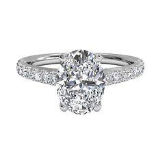 1.30Ct Diamond Engagement Wedding Rings Fine 14k White Gold Oval Cut VVS1 229