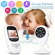 AU 2.4'' Wireless Digital Baby Monitor Pro LCD Audio Talk Night Vision Video