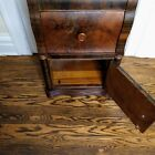 Art Deco Waterfall Design Nightstand Bakelite Pulls Van Sciver 1930s Cabinet