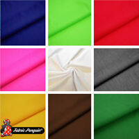 Plain Fabric Polycotton Sheeting Dress Craft White Black Red Per Metre Solid