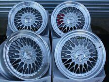 "ALLOY WHEELS X 4 18"" SILVER VINTAGE FOR 5X98 ALFA ROMEO 147 156 164 GT FIAT 500L"