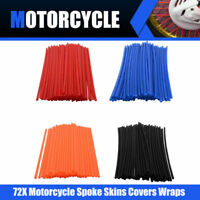 72 Wheel Rim Spoke Wraps Skins Cover Fit For Motorcycle Dirt Bikes Harley