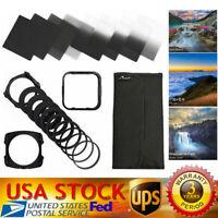 Complete ND 2 4 8 16 Filter Kit f/Cokin P+Square Filter Holder+Adapter+Lens Hood