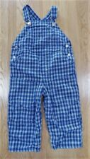 Vintage Boy's Gymboree Blue Plaid Overalls Jumper Cotton size 24 m Months Exc