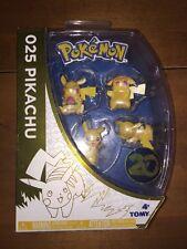 Pokémon 025 Pikachu Mini Figure Set Of 4 20th Anniversary Tomy New In Package