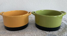 Bobby Flay Stoneware 14.5 oz Casserole bowls Ramekin with handles set of 2