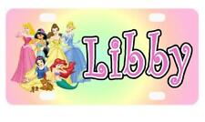 DISNEY PRINCESSES MINI LICENSE PLATE Any Name Personalized for Kids Bikes Wall