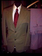 Vintage 70s Mens Boys Ugly DISCO Leisure SUIT Jacket 36 w/ 34 SLACKS & NECK TIE