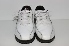 Nike Mens White Golf Shoes Lace Up Size 11.5