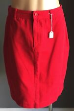 Vintage 1990's Fab SUZANNE GRAE Red Denim Straight Skirt Size 10