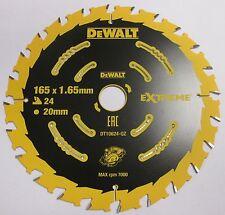 Dewalt DT10624 165X20X24T Saw Blade Circular Cordless DCS391 DC390 DHS680 DSS611