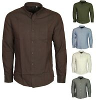 Only & Sons Men's  Solid Casual Slim Long Sleeve Buttoned Shirt Sizes S - XL
