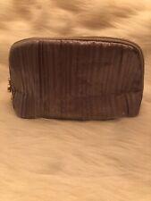 Bulgari Parfums Makeup Bag Travel Kit Silver Zipper Pouch Bag Only