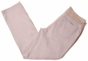 TRUSSARDI Mens Jeans W30 L28 Beige Cotton Slim  KV07